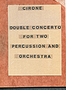 Double Concerto for Two Percussion and Orchestra