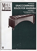 Music of the Masters Series, Volume V, Unaccompanied Solos for Marimba